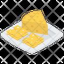 Cheddar Cheese Vector Icon