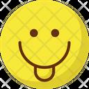 Cheeky Baffled Emoticon Emoticons Icon