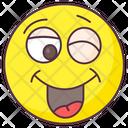 Cheeky Wink Emoji Laughing Expression Emotag Icon