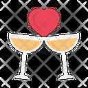 Champagne Cheer Wedding Icon