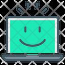 Cheerful Laptop Icon