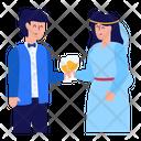 Cheering Couple Icon