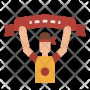 Cheerleader Flag Cheer Icon