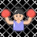 Cheerer Cheerleader Cheer Lady Icon