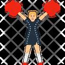 Cheerleader Girl College Icon