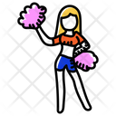 Cheerer Cheerleader Cheer Jumps Icon