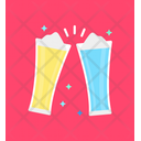 Cheers Champagne Glass Toasting Icon