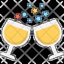 Toasting Cheers Wine Glasses Icon
