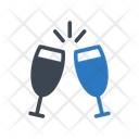 Champagne Drinks Party Icon