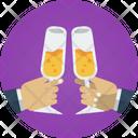 Toast Cheers Celebration Drink Icon