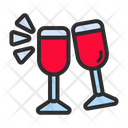 Cheers Wine Party Icon