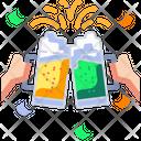 Cheers Hands Beer Bottle Icon