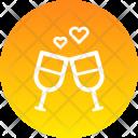 Wine Date Toast Icon