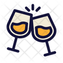 New Year Eve Party Cheers Icon