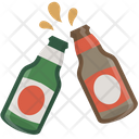 Cheers Beer Bottles Icon