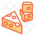 Cheese Cheese Slice Pizza Ingredients Icon