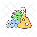 Cheese And Grapes Icon