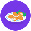 Cheese Balls Cuisine Fast Food Icon