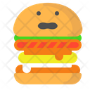 Cheeseburger Burger Fast Food Icon