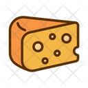 Cheese Cheddar Piece Icon