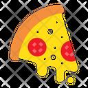 Cheesy Pizza Slice Icon
