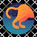 Cheetah Run Animal Icon