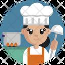 Chef Professional Female Icon