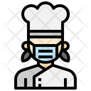 Chef Cooker Woman Icon