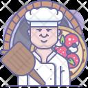 Bake Chef Pizza Icon