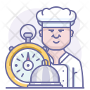 Chef Fastfood Stopwatch Icon