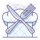 Chef Cutlery Hat Icon