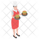 Burger Fast Food Serving Burger Icon