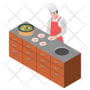 Fresh Food Professional Chef Food Court Icon