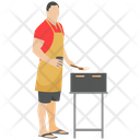 Chef Cooking Bbq Grilled Food Icon
