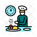 Chef Cooking Color Icon