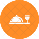 Chef Platter With Drink Icon