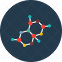 Chemical Atom Atoms Hexagons Icon