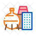 Chemical Factory Industrial Icon