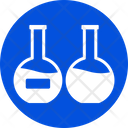 Chemical Flask Lab Research Laboratory Testing Icon