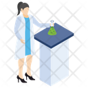 Chemical Flask Lab Experiment Laboratory Test Icon