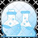 Chemical Flasks Chemistry Lab Beaker Icon