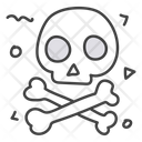 Chemical Hazard Danger Skull Icon