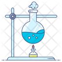 Chemical Reaction Chemistry Flask Lab Practical Icon