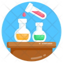 Chemical Experiment Chemical Reaction Chemical Flasks Icon