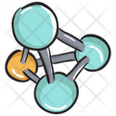 Nodes Network Chemical Structure Chemical Bonding Icon