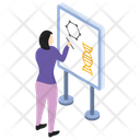 Chemical Structure Presentation Icon