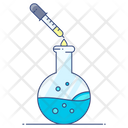 Chemical Test Chemistry Flask Lab Practical Icon