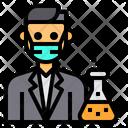 Chemist Scientist Man Icon