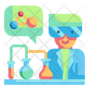 Chemistry Scientist Research Icon