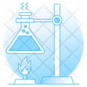 Chemistry Lab Erlenmeyer Flask Flask Stand Icon